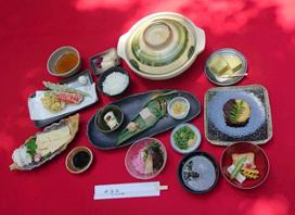 湯豆腐と鵜飼鑑賞